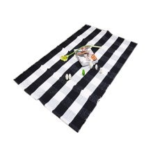 Typical Black&White Striped Chair Mats, Cotton Chair Mat for Carpet 60*90cm