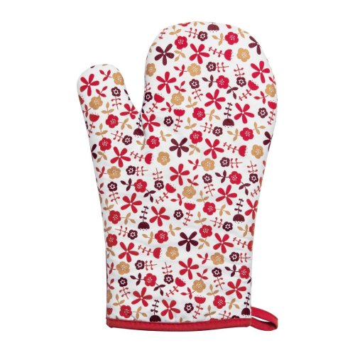 Red Daisy Single Oven Glove