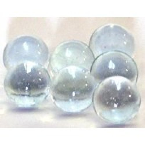 """Clear Glass Marbles 1/2"""" in Diameter 500 Per Package / 4.4 Lbs of Marbles"""