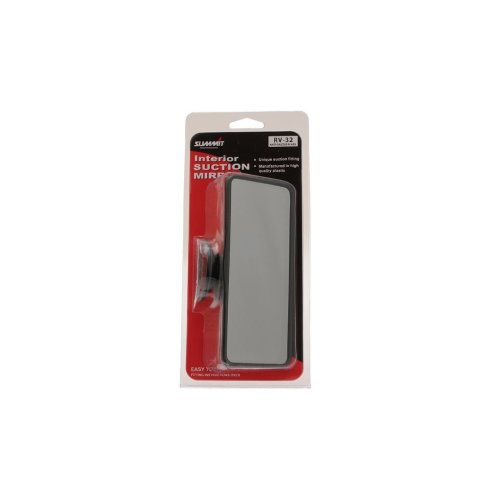 Rear View Suction Mirror - Tinted Glass - Large - 16 x 7cm