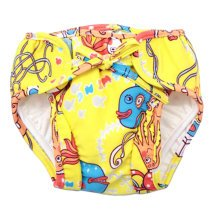 Reusable Swim Diaper Adjustable Absorbent Shower Diapers for Baby Toddler, A05
