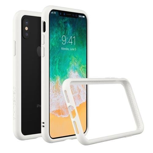 sports shoes 23d04 96dc6 RhinoShield Bumper Case FOR IPHONE X [CrashGuard] | Shock Absorbent Slim  Design Protective Cover [3.5M/11ft Drop Protection] - White