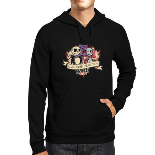Nightmare Before Christmas Jack And Sally Meant To Be Men's Hooded Sweatshirt