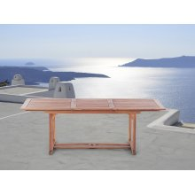 Wooden Garden Table - Rectangular Pull-out Table - TOSCANA