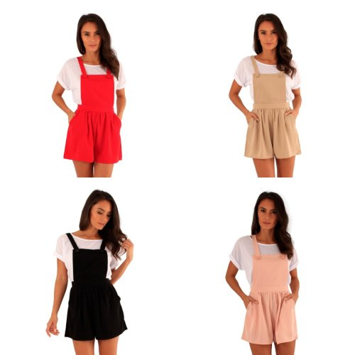 Ly Womens/Ladies Danny Pinafore Playsuit