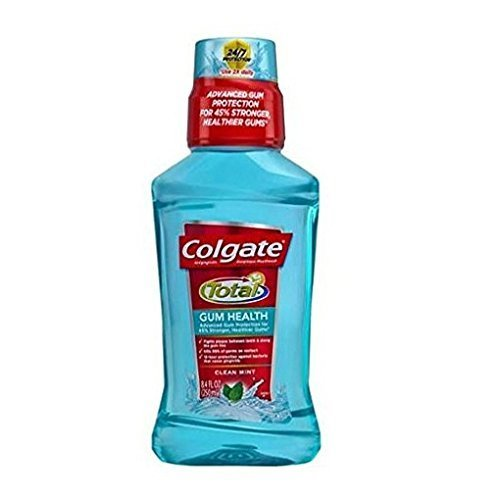 Colgate Total Gum Health Antiplaque Mouthwash, Clean Mint 8.40 oz (Pack of 2)
