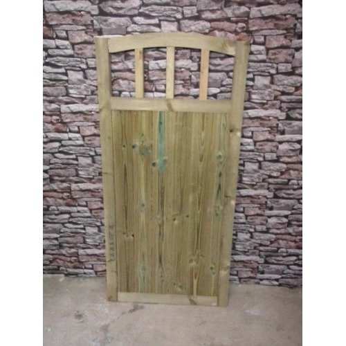 Dome Slatted Gate 6ft High (Buying Total Width)