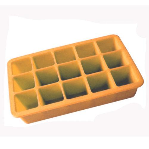 Safe And Soft Silicon Ice Cube Tray, Orange, Set of 2,18.8*12*3.5CM