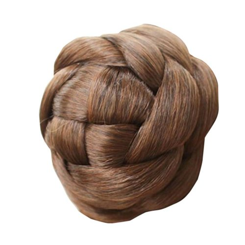 Synthetic Clip on/in Hair Bun Extension for Women/Girl