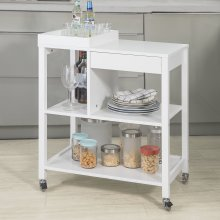 SoBuy® FKW58-W, Kitchen Trolley Storage Trolley Serving Trolley