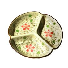 Creative Beautiful Divided Ceramic Dinner Party Plate,7 Inch,B