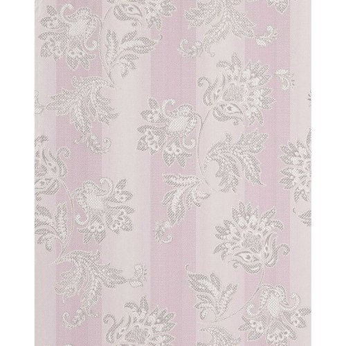 EDEM 084-26 vinyl wallpaper floral design flowers baroque purple silver 5.33 sqm
