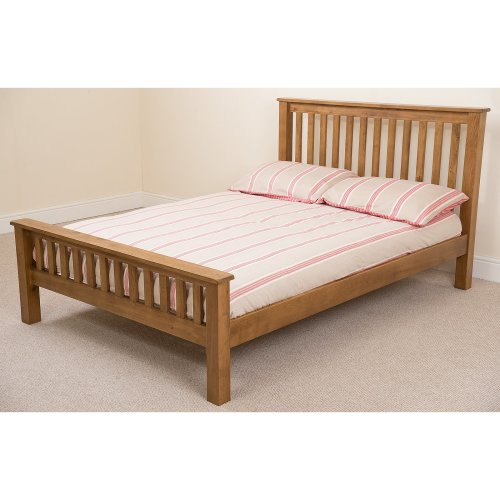 Cotswold Rustic Solid Oak Bed Frame with Mattress