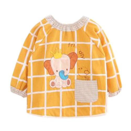 Lovely Baby Bibs Feeding Bib Kid's Apron Overclothes Waterproof Long Sleeves Art Smock NO.16