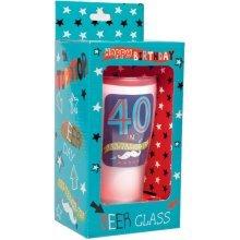 Simon Elvin Keepsakes Milestone Age Beer Glass - 40th - Unicorn Birthday -  unicorn 40th birthday beer glass stationary favor set 20pcs invitations