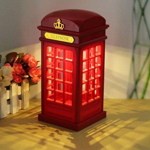 Touch Sensor Telephone Booth LED Night Light