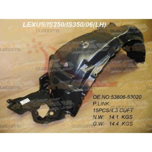Lexus is 2005- Front Wing Arch Liner Splashguard Left N/s