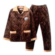 Men Pajamas Warm Thick Cotton Winter Suit Modern Set Sleepwear/Nightwear Clothes for Home, C2