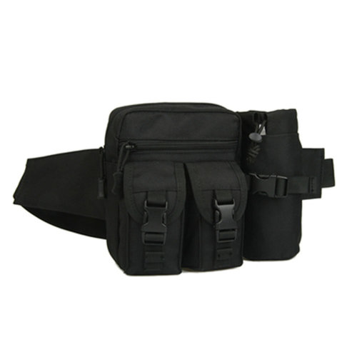 Outdoor Tactical Kettle Sports Waist Packs/Multi-function Travelling Bag Black