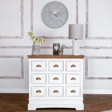 Strasbourg Shabby Chic 9 Drawer Chest