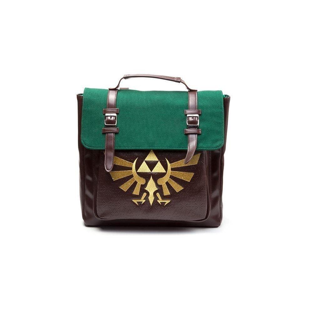Nintendo Legend of Zelda Royal Crest Emblem Backpack Brown Green  (BP020216ZEL) 0b6afc9179741