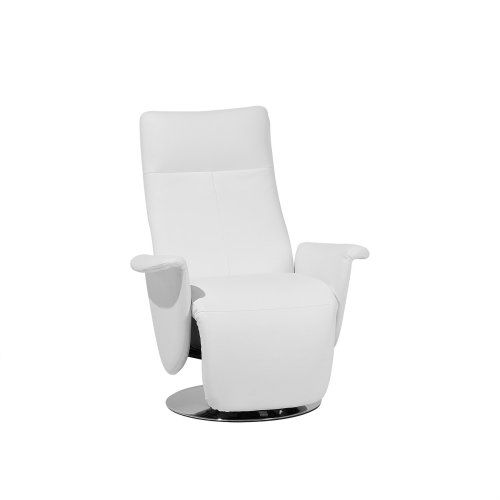 Faux Leather Recliner Chair White PRIME