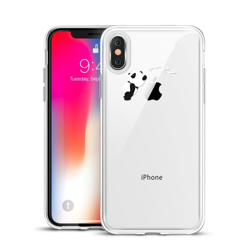 outlet store 6a6c6 41b8c ESR iPhone X Case, Clear Soft Silicone Case with Cute Pattern Design [Slim  Fit] Protective Skin Cover for 5.8