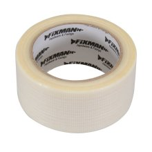 Fixman Heavy Duty Duct Tape 50mm x 20m Clear - Duct Heavy Duty Tape Clear 50mm -  duct heavy duty tape fixman clear 50mm 20m 190469