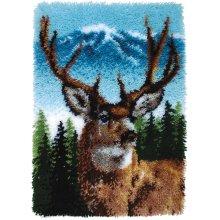 "Caron Wonderart Classic Latch Hook Kit 20""X30""-Deer"