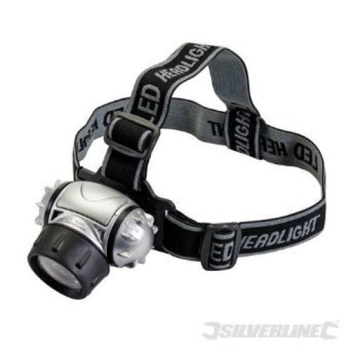 12 LED Adjustable Multimode Headlamp - Silverline 140079 -  led 12 silverline headlamp 140079