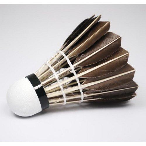 Set of 12 Black Feather Badminton Shuttlecocks Championship Shuttlecocks