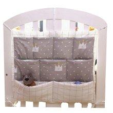 Imperial Crown Pattern Infant Bedside Multilayer Pouch Storage Bag Diaper Bag