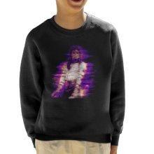 Michael Jackson Bad World Tour 1988 Purple Flare Kid's Sweatshirt