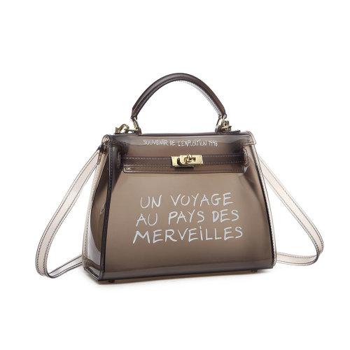Miss Lulu 'Un Voyage Au Pays Des Merveilles' Vinyl Bag