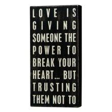 Primitives Box Sign - Love Is