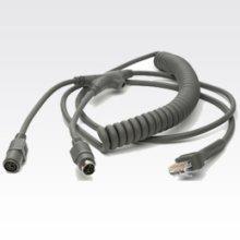 Datalogic KBW, 6MDIN, P&S, E/P-POT, Coil, 12' 3.6m KVM cable