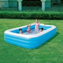 Bestway 3 Ring Deluxe Family Pool Garden Home Toys Play 120 x 72 x 22 inches