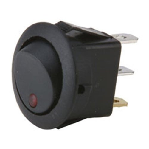 Metra IBRRSR Round Rocker Switch With Red Leds - No Leads
