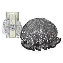 Sequinned Waterproof Shower Cap - Luxury Ladies Wet Hair Head Cover Bath -  luxury ladies shower cap wet hair head cover bath protector hat salon