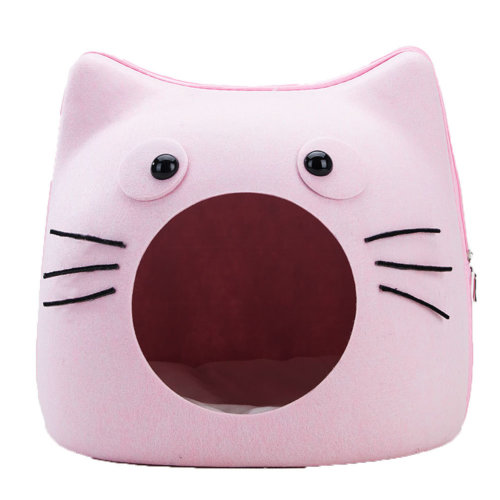 Small Medium Cat Cave Bed Pet Condo House Sleeping Bed for Cats and Pet Pink