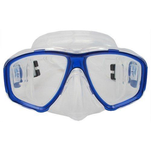 Scuba Choice Scuba Blue Diving Dive Snorkel Mask Farsighted Prescription RX Optical Corrective FULL Lenses 2 0