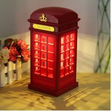 Touch Sensor Telephone Booth LED Night Light