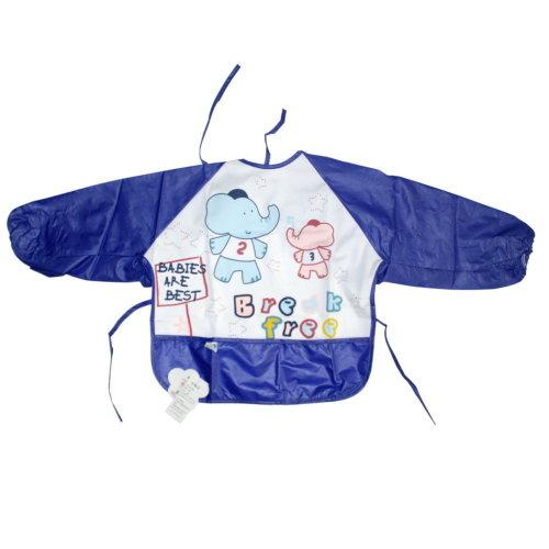 Blue Elephant Baby Bib Neck Strap Toddlers Apron, 1-3 Years