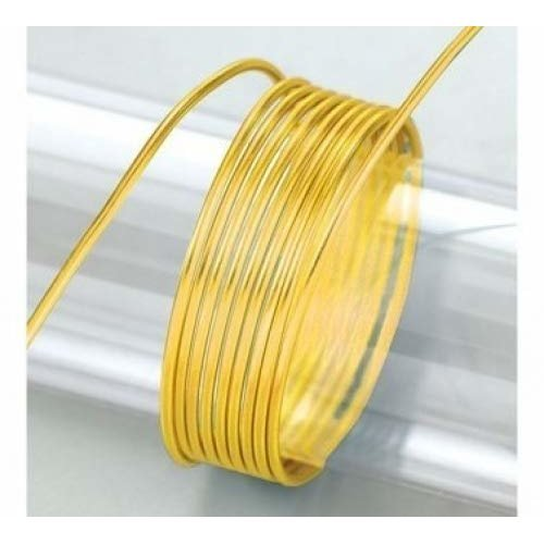 Efco 2 mm x 5 m 42 g Approximately Aluminium Anodised Wire, Yellow