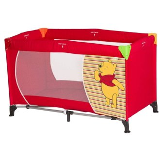 Disney Dream'n Play Travel Cot - Pooh Spring Brights Red