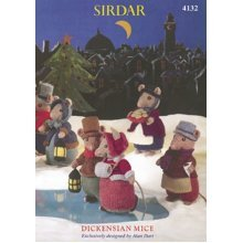 Alan Dart Sirdar Dickensian Mice Knitting Pattern