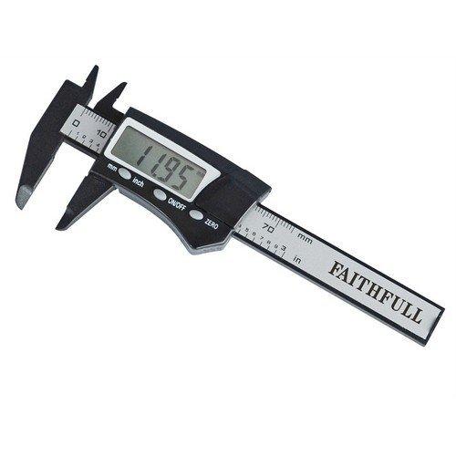Faithfull FAICALDIG75 Mini Digital Caliper 75mm Capacity