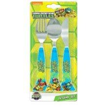 Tmnt 3pc Cutlery Set - Teenage Mutant Ninja Turtles New Fork Disney Kids Tv -  cutlery set teenage mutant ninja turtles new fork disney kids tv