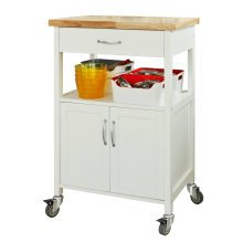 SoBuy® FKW22-WN, Wooden Kitchen Storage Trolley Kitchen Cabinet