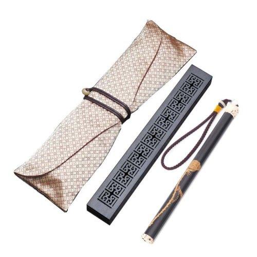 Wooden Incense Burner Box Ebony Wood Incense Stick Burner with Incense Tube, 14